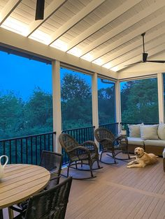 Enclosed Decks, Enclosed Porches, Decks And Porches, Porch Ceiling, Porch Roof, Shiplap Ceiling, Porch Wall, Ceiling Lights, Screened Porch Designs