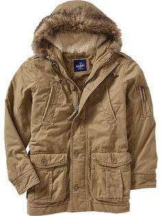 Old Navy | Men's Twill Snorkel-Hood Coats