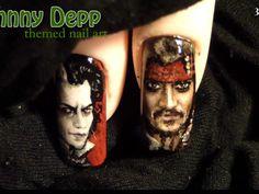 *Johnny Depp inspired nail art design* Jack Sparrow & Sweeney Todd