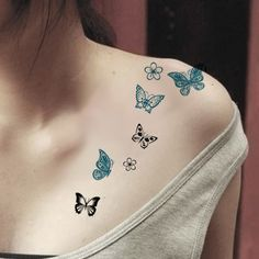 Tattoos Waterproof Tattoo Stickers Body Art Painting For Party Event Decoration Butterfly Black Blue Wholesale