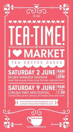 Love the latest I heart Market poster!