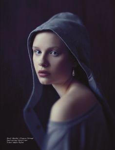"The Interpretation: Katja Borghuis by Riccardo Bernardi for Schön! Magazine. Interpretation of Vermeer's ""Girl with the Pearl Earring."""