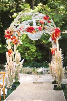 bold wedding ceremony decor