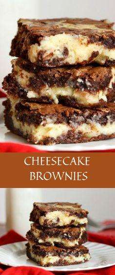 Brownies AMAZING Cheesecake Brownies - the delicious chocolate dessert with a cream cheese and white chocolate chip layer.AMAZING Cheesecake Brownies - the delicious chocolate dessert with a cream cheese and white chocolate chip layer. No Bake Desserts, Easy Desserts, Brownie Desserts, Cheesecake Desserts, Healthy Desserts, Healthy Recipes, Healthy Food, Peppermint Cheesecake, Vegan Cheesecake