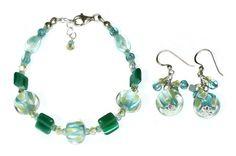 #Aqua #Yellow #Teal #Mint #Green Bracelet Set by AngieShel Designs