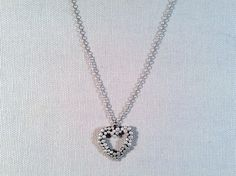 Handmade Sterling Heart Necklace from J&I. Made in Philadelphia. Gorgeous gift!