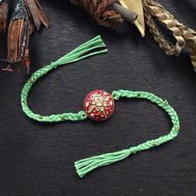 Tanjore Round Rakhi - Red & Green – Jewellery By Mitali Jain Gift For Raksha Bandhan, Raksha Bandhan Photos, Rakhi Bracelet, Handmade Rakhi Designs, Rakhi Cards, Red To Blonde, Blonde Hair, Happy Rakshabandhan, Basket Decoration