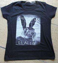 Girlie Shirt Siebdruck Who the Fuck is.... von *Coco Mademoiselle* auf DaWanda.com