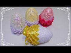 jajko wielkanocne ze wstążki i cekinów  jak wykonać   krok po kroku  - YouTube