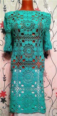 Dress from Jaeger London Mode Crochet, Knit Crochet, Bohemian Girls, Crochet Woman, Embroidery Fashion, Crochet Clothes, Crochet Dresses, Beautiful Crochet, Knit Dress