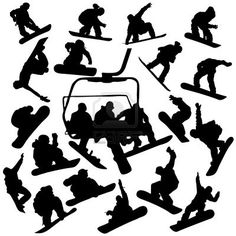 Snowboarder Silhouettes