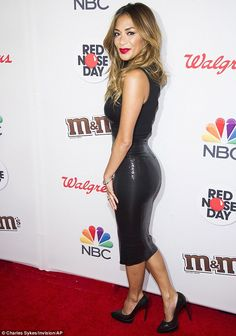 Meow: Former Pussycat Dolls frontwoman Nicole Scherzinger led the glamour on the Red Nose ...