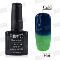 Elite99 thermal changing nail polish Elite99   Volume: 10ml   Color: 5711  Features:  * These colors amazingly change color with the heat of your body  * Best quality control to ensure high quality polish  * It offers the widest color range for reasonable price  * Long lasting for at least 2-3 weeks  * No grinding. No filing. No drying time after application: curing with UV gel.  * No more imperfect surface, dents or nails cut. Color resistant, flexible and shiny  I CAN BUNDLE THE NAIL…