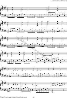 Celine Dion - My Heart Will Go On(Love theme from Titanic) Sheet Music Page 3
