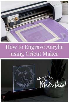 Learn how to engrave acrylic on the Cricut Maker with this step by step tutorial and video to make a gorgeous LED nightlight! Beginner Woodworking Projects, Woodworking Plans, Wood Working For Beginners, You Got This, Cricut, How To Make, Diy, Do It Yourself, Bricolage
