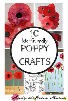 10 Poppy Crafts for Remembrance Day 10 Poppy Crafts for Remembrance Day or Veteran's Day; great poppy crafts for all-ages that can be done with supplies you already have. 10 Poppy Crafts for Remembrance Day Remembrance Day Activities, Veterans Day Activities, Remembrance Day Poppy, Art Activities, Activity Ideas, Craft Ideas, Elderly Activities, Dementia Activities, Autumn Activities