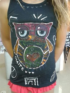 Remera pintada por Maite 8 años