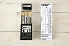 creative ideas design packaging parmesan pencil