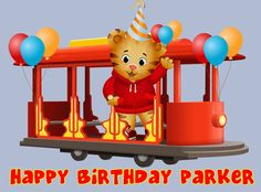 Daniel Tigers Neighborhood Frosting sheet cake topper. $8.99, via Etsy.
