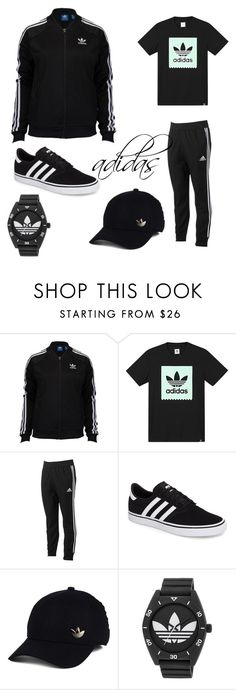 """adidas"" by jason-becz ❤ liked on Polyvore featuring adidas, men's fashion and menswear"