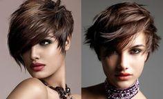 cool геометрическая стрижка волнистые волосы - П...