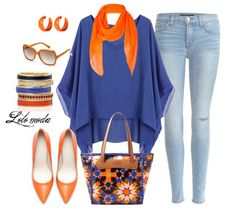 Make the blue purple and there's a great outfit! - Lolo moda, spring 2014 fashion, www.lolomoda.com
