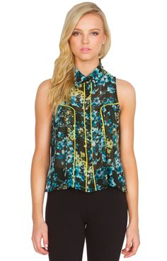 Floral Piped Blouse