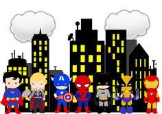 Perfect for baby superhero invites