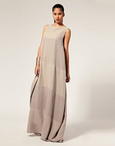 Aqua Tonal Stripe Egg Maxi Dress with a long sleeved shirt underneath, it's perfect.
