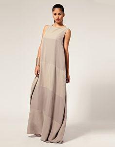 Aqua Tonal Stripe Egg Maxi Dress with a long sleeved shirt underneath, it's perfect.