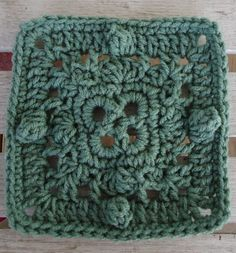 """BlueDragonFly Designs on a Hook: A.I. 6"""" SQUARE  Free crochet pattern"""