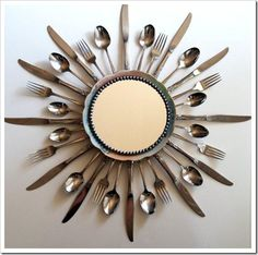 Love this for a kitchen, maybe with a clock instead of a mirror.