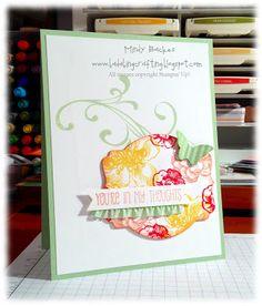 Fantastic colors used on the Deco Labels Framelits! Bada-Bing! Paper-Crafting!: HSS 163