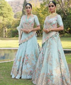 Every Indian Bride has her own designer wedding lehenga dreams. We have picked our favourite stunning bridal lehenga colors that are not red Indian Bridal Lehenga, Indian Bridal Fashion, Indian Wedding Outfits, Bridal Outfits, Indian Outfits, Indian Sarees, Bridal Dresses, Wedding Attire, Lehnga Dress