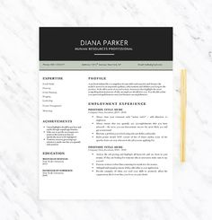 modern professional resume template for word resume extras template instant download