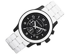 Black & white at its best! Casio Watch, Chronograph, Michael Kors, Watches, Black And White, Cool Stuff, Accessories, Blog, White Outfits