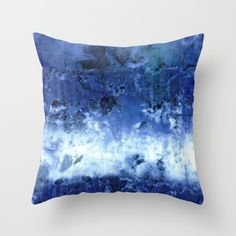Saltwater Silk Blue Throw Pillow by Nina May Designs | Society6