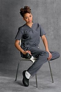 """ScrubZone V-Neck Tunic Scrub Top 70221 ScrubZone V-Neck Tunic Scrub Top    Durable, comfortable and moves the  way you do. V-neck style. Short set-in  sleeves. Two large, top-loading patch  pockets. Hidden accessory tape inside  right pocket. Cell phone pocket.    Side vents for movement. Medium length 27"""" XS–5XL  $11.36 #scrubs #nurses #scrubcouture"""