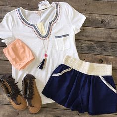 #NEWARRIVALS  #Ivory #ScoopNeck #Top $32.99 XS-L #Navy #CrochetWaist #Shorts $19.99 S-L #NotRated #KeepThePeace #Sandals $39.99 6-9 #Necklace & #Earring #Set $12.99 #TubeTop $7.49 We #ship! Call us today! 903.322.4316 #shopdcs #instashop #instashop #shopd