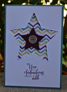 First Card of the Stampin' Up! New Annual Catalogue is a Work of Art, Star Framelits, Christie Kunkel, Christies Creative Corner, Stampin Up