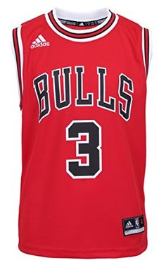 a84d6f85ad4 NBA Chicago Bulls Dwyane Wade Youth 8-20 Replica Road Jersey Red (Red,