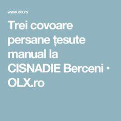 Trei covoare persane țesute manual la CISNADIE Berceni • OLX.ro