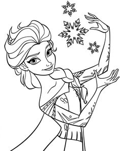 frozen callering pages   Download and Print printable frozen coloring page