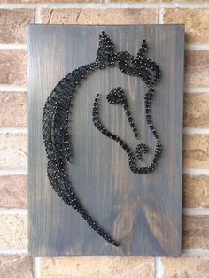 Image consequence for huge wooden string artwork String Art Diy, String Crafts, String Art Patterns, Arts And Crafts, Diy Crafts, Feather Crafts, Horse Crafts, Thread Art, Wire Art