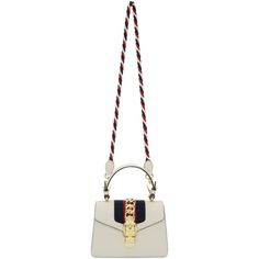 GUCCI White Mini Sylvie Bag. #gucci #bags #shoulder bags #hand bags #leather #