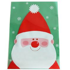 Santa poly bags for cookies and gift. Useful cellophane bags for christmas. gift wrapping ideas.