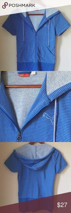 Puma short sleeve hoodie 70%cotton, 30%polyester Puma Tops Sweatshirts & Hoodies