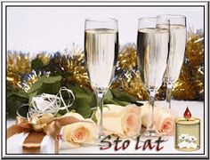 Urodziny i imieniny: Gify urodzinowe Man Birthday, Happy Birthday, Wine Time, Champagne, Table Decorations, Tableware, Whisky, Beautiful, Vintage