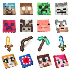 Gamer and Stampylongnose inspired pixel fan art! This is for TEN (10) party favors with the character of your choice. The characters measures