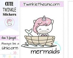 A141 | mermaid stickers,planner stickers,ocean,summer,beach stickers,swimming,mini size,kawaii mermaids,little mermaid,live planner by twinkletheunicorn. Explore more products on http://twinkletheunicorn.etsy.com